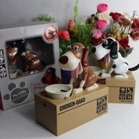 Creative Piggy Bank Dog Steal Money Coins Saving Box Pot Case kids Gifts automated dog Steal Coin Itazura Piggy Money Save Box