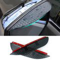 Estilo do carro De Carbono espelho retrovisor chuva sobrancelha capa de chuva À Prova de Chuva Lâmina Flexível Acessórios Protetor Para VW POLO 2012