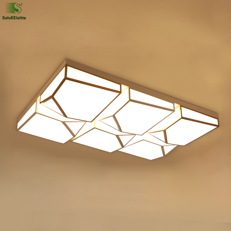 Modern Lustre Square Acrylic Led Ceiling Lights Lamparas Bedroom Led Ceiling Lamp Luminarias Foyer Led Ceiling Light Fixtures