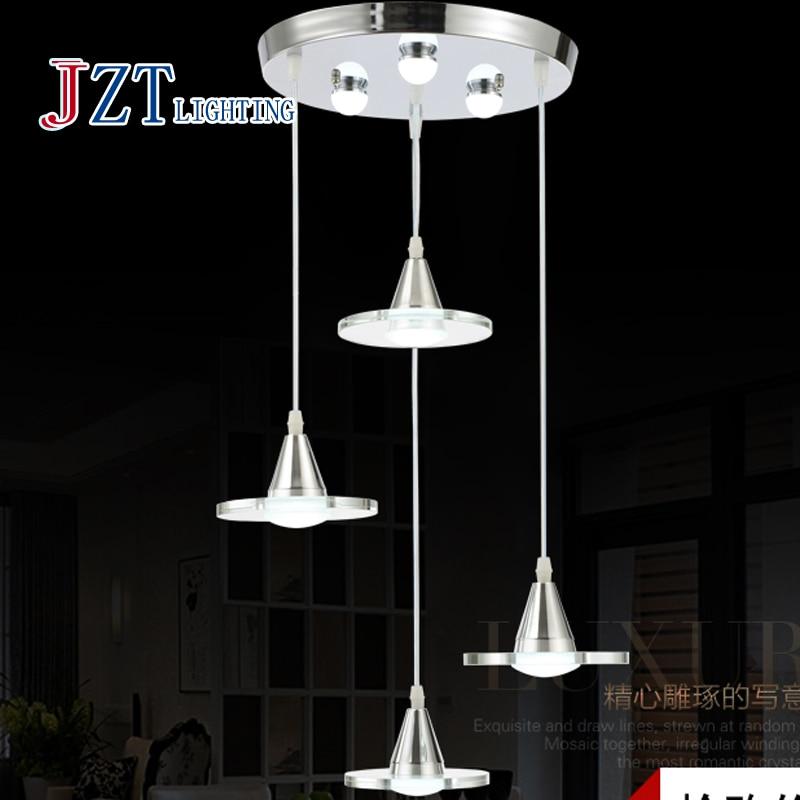 Z Modern LED Restaurant Chandelier Single / Three / Four Head 29W Crystal Hanging Lamp Creative Dinningroom Bar Lighting Fixture