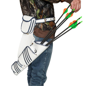 1pc Archery Arrow Quiver 2 Colors Leather Arrow Bag Holder Simply Quick Waist  for Compound Recurve Bow Shooting