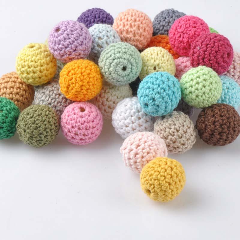 20 PCS Elegant 20mm Crochet Beads Woolen Yarn For Choose Knitted By Cotton Thread DIY Jewe