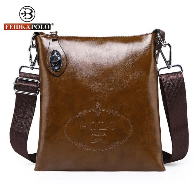 a6446334ad FEIDKAPOLO Brand Bag Men Travel Bags Crossbody Bag for Men Messenger Bags  Business Men s Leather Clutch