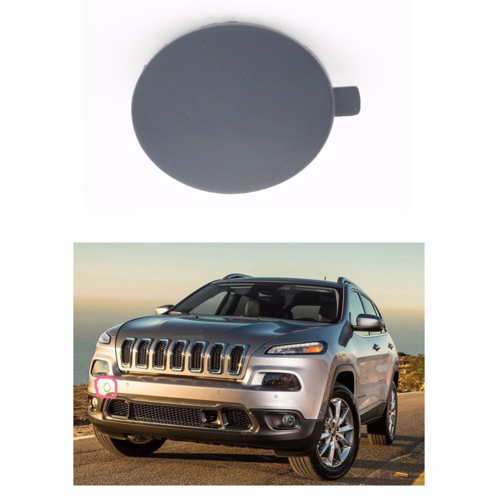 1 Pcs Plastic Front Bumper Eye Towing Bar Cover Tow Hook Cap Trim For Jeep Cherokee 2014