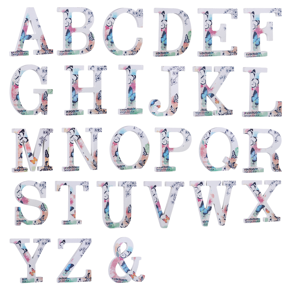 Wood Wooden Letter Happy Birthday Letters Alphabet Word