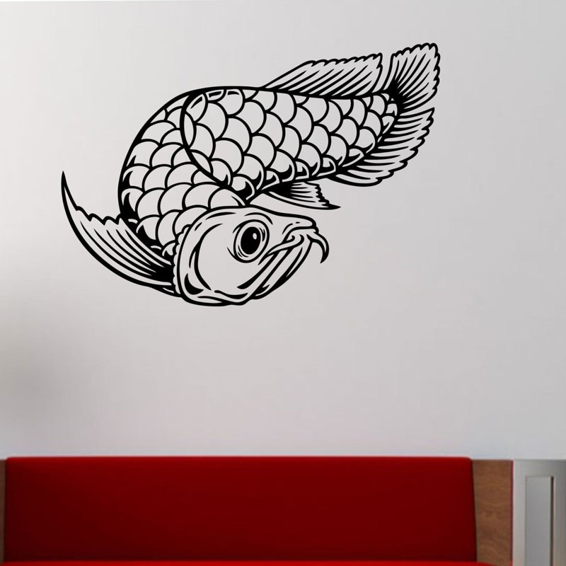 ZOOYOO Lucky Fish Wall Sticker Interior Design Home Decor Wall Art Murals Living Room Bedroom Decoration Wallpaper Decals