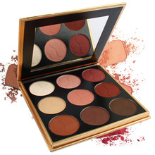 9 Colors  Eye Shadow Long-lasting Waterproof Palette Matte Shimmer Glitter Of Blush Makeup 5.8