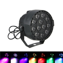 New Professional LED Stage Lights 12 RGB PAR LED DMX Stage Lighting Effect DMX512 Master-Slave Led Flat for DJ Disco Party KTV