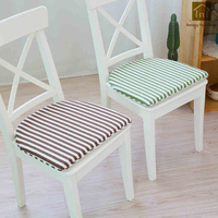 Soft Stripe Cushion Seat Case Pads Massage Cute Pillow Vintage Mat Coussin Home Chair Pad Sier Kussens Office Cushions WKX017