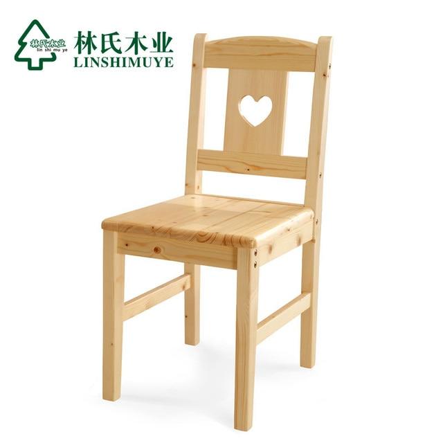 Lin moderna de madera maciza de madera ambiental sillas for Sillas de madera modernas