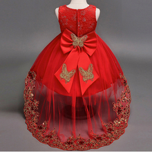 New High quality Baby Lace Princess Dress for Girl Elegant Birthday Party Dress Girl Dress Baby Girl's Christmas Clothes 2-12 Yr цена