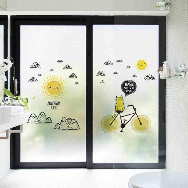 Cartoon kinderkamer zelfklevende mat glas folie badkamer woonkamer ...