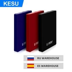 KESU 2.5 External Hard Drive de Disco 120G 160 GB 250 GB 320 GB 500 GB 750 GB 2 TB 1 TB HDD disco duro externo para Laptop/Mac/PS4/Xbox Um
