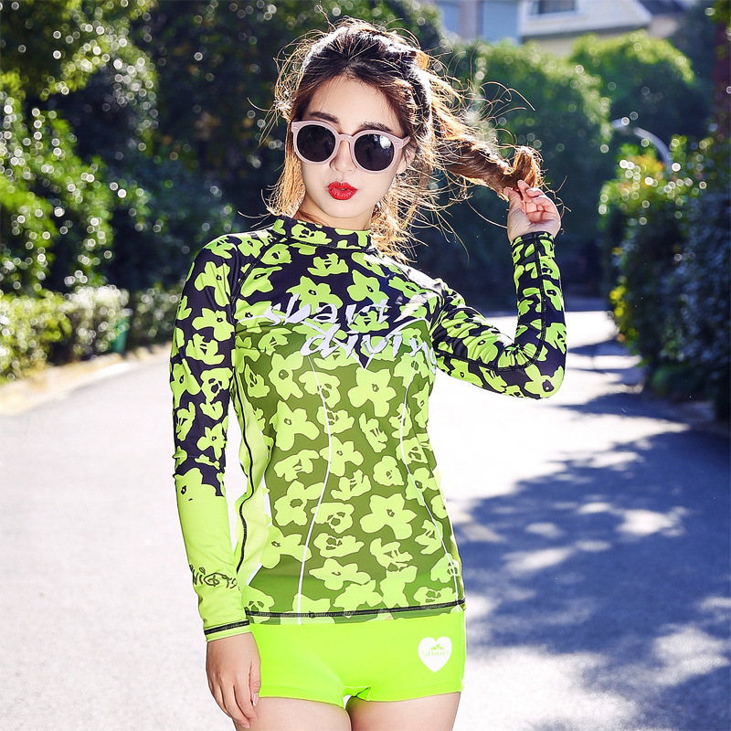 sbart Lycra Diving Serve Woman Snorkeling Fission Sunscreen Jellyfish Clothes Surfing Long Sleeve Swimming Suit sbart upf50 806 micai