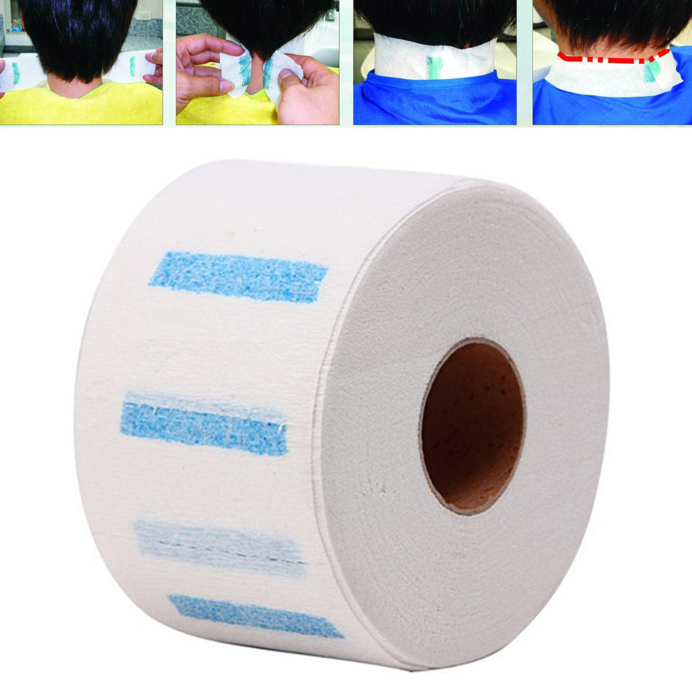 Neck Ruffle Roll Paper Professional Hair Cutting Salon Disposable Hairdressing Collar Accessory Necks Covering  KG66