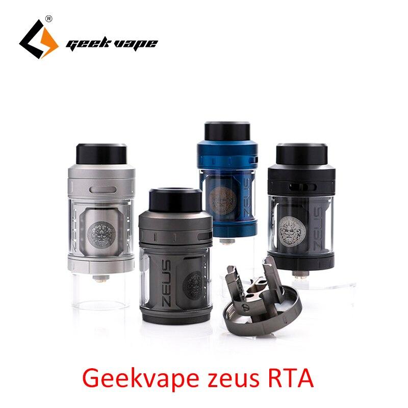 D'origine Geekvape Zeus RTA meilleure saveur ecig atomiseur 4 ml 3D flux d'air E Cigarette Zeus Atomiseur pour Geekvape L'égide Boîte MOD
