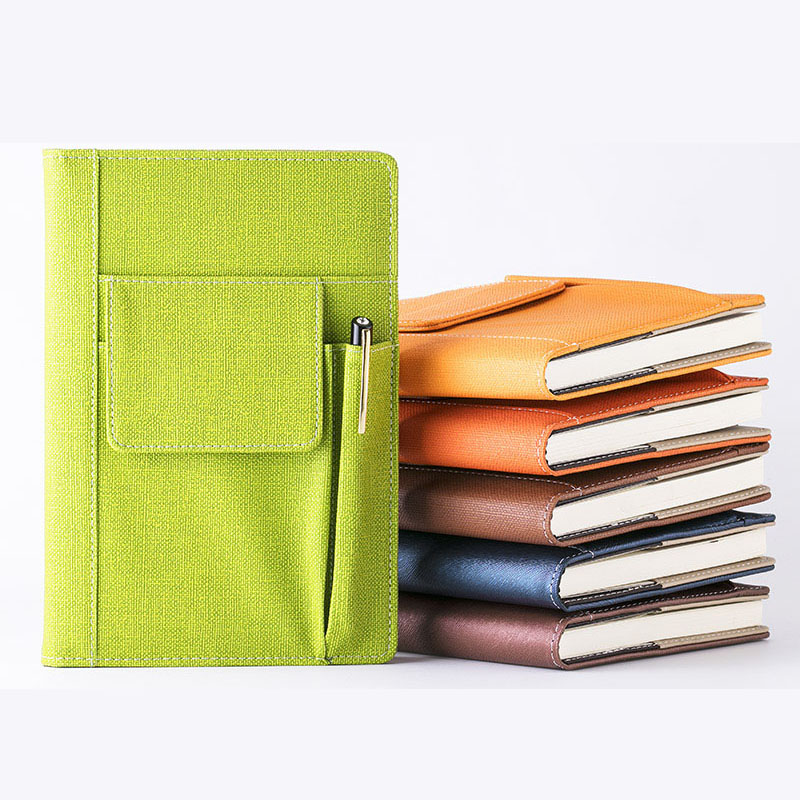 RuiZe High quality Multifunctional office notebook A5 leather Business notepad planner creative stationery note book
