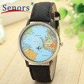 Essential Wristwatch Bangle Bracelet Global Travel By Plane Map Women Dress Watch Denim Fabric Band Reloje Watches Men 16Nov07