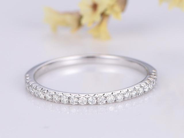MYRAY Wedding Bands Engagement Ring Bezel Set Ring Wedding Ring in