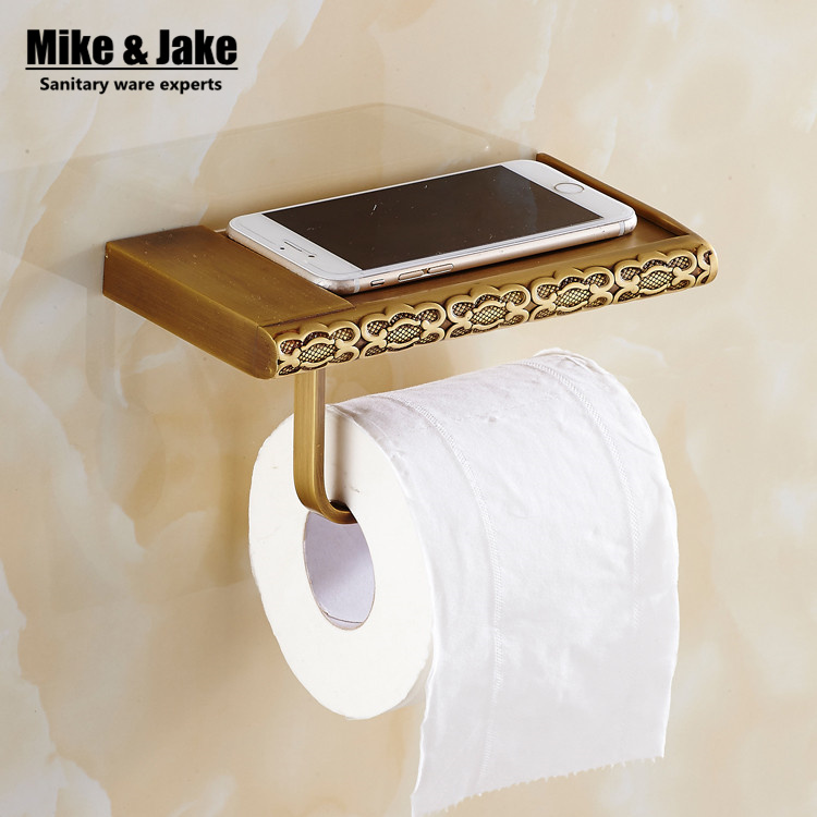 Antique brass bathroom paper phone holder with shelf bathroom Mobile phones towel rack toilet paper holder  tissue boxes flg oil rubbed bathroom paper phone holder with shelf bathroom mobile phones towel rack toilet paper holder tissue boxes g506
