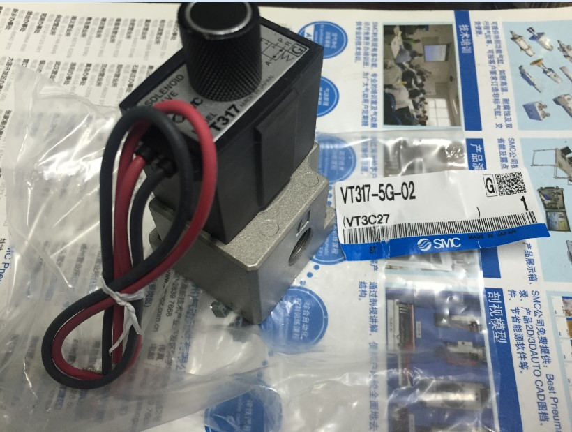 Japan's new original SMC solenoid valve VT317-5G-02 vt307v 5g 02 new original authentic smc vacuum solenoid valve