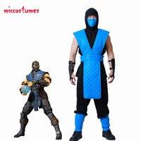 Shotokan Ninja Blue Fighter Halloween Cosplay Costume Mortal Kombat Full Set for Men