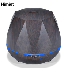 Large Capacity Aroma Humidifier Essential Oil Diffuser Wood Grain 550ml Ultrasonic Cool Mist Aromatherapy Oil Diffuser Electric