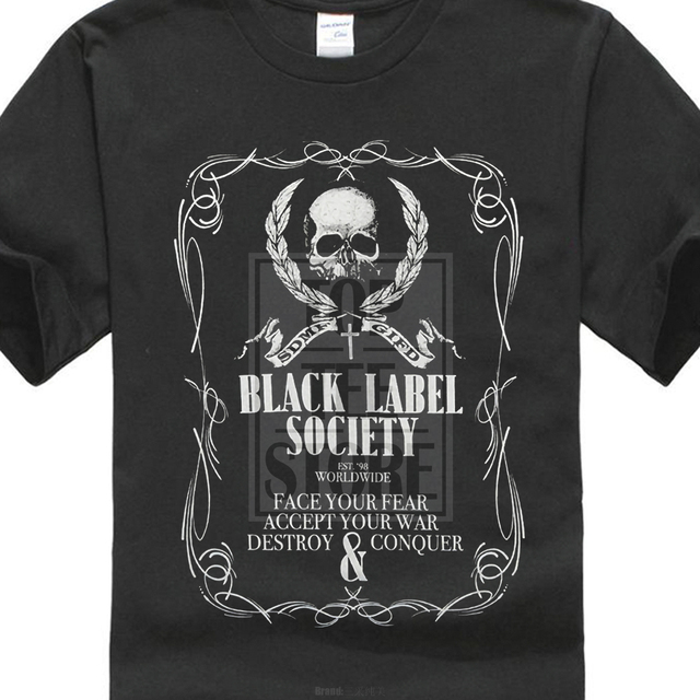 f7be4d1615240 Gildan Black Label Society  Strength  T Shirt New Official! 100% Short  Sleeves T Shirts Top Tee Shirts For Men Plus Size