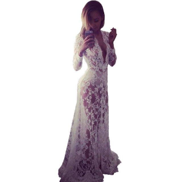 Кружева длинные женщины dress sexy летняя мода boho maxi dress халат roupas femininas vestidos де феста элегантный плюс одежда размера 4XL