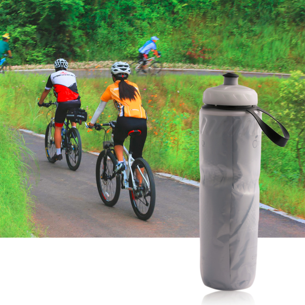 2017 useful portable outdoor insulated water bottle Outdoor bicycle