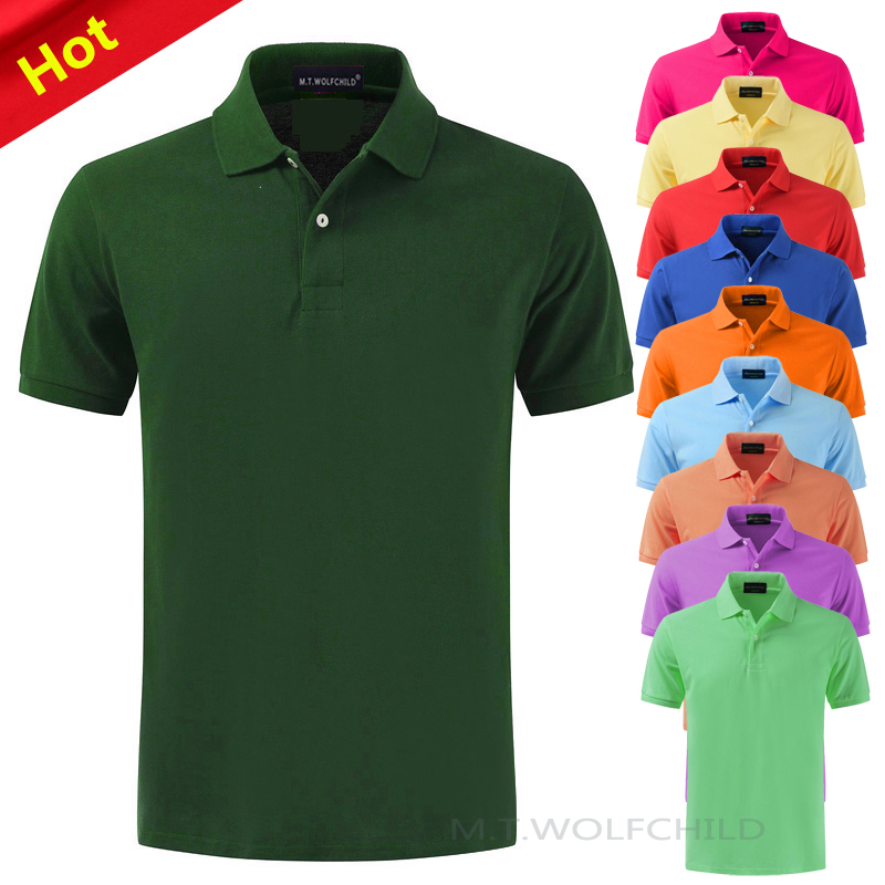 Top quality 2019 Summer 100% cotton Men's short sleeve   polos   shirts XS-4XL casual solid color lapel tees fashion male tops