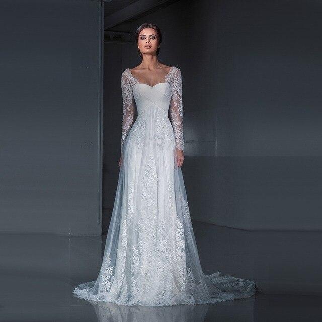 Sexy Mermaid Sweetheart Long Sleeve Lace Wedding Dresses 2017 Long