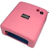 Pro 36 W Różowy Żel UV Nail Art Cure Utwardzanie Lampa Włosów w/4 sztuk 9 W Żarówki 110 V 220 V