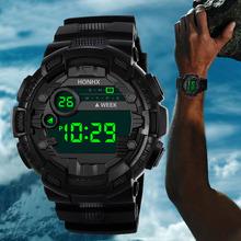 Luksusowy analogowy cyfrowy wojskowy armia stylowy elektroniczny mężczyzna zegarek zegar męski zegar Sport cyfrowy LED wodoodporny zegarek na rękę A tanie tanio LVPAI 25 3cm Żywica Klamra 3Bar Moda casual Cyfrowe Zegarki Na Rękę 50mm Silikon 13mm Szkło Odporne na wodę Wyświetlacz led