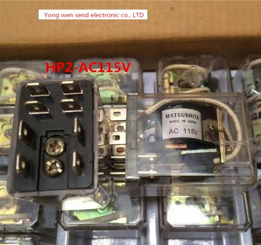 HOT NEW relay HP2-AC115V HP2AC115V HP2 AC115V DIP8 2PCS/LOT шина соединительная schneider electric типа pin штырь 2p до 63а 32031dek
