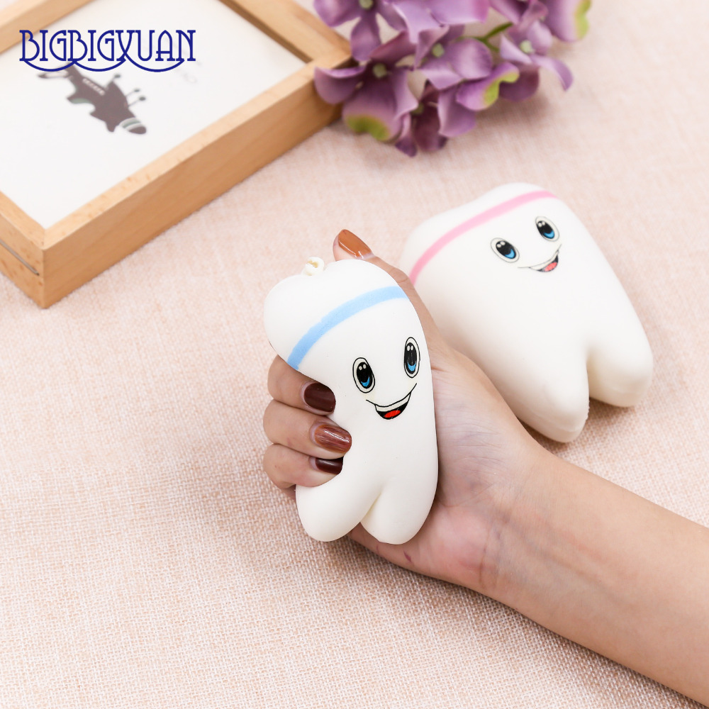 Squishy Animals For Phone : 1pcs Kawaii Animal Soft Teeth Squishy Slow Rising Jumbo SqueezeJumbo Cell Phone Strap Pendant ...