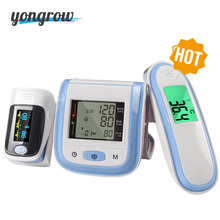 Beauty Health - Health Care - Yongrow Digital Fingertip Pulse Oximeter SpO2 Wrist Blood Pressure Monitor Ear Infrared Thermometer Family Health Care Oxygen PR