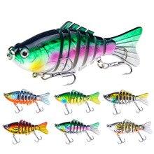 1PCS 15.6g 10cm Fishing Lure Multi Jointed Hard Bait Lifelike Wobblers 7 Segments Swimbait Crankbait Rainbow