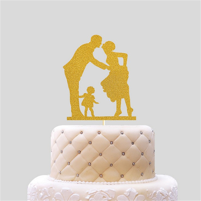 20Pcs Creative Gold Bright Bright Wedding Cake Topper Dessert Table
