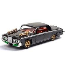 1:36 Mainan Mobil Green Hornet Dodge Mobil Logam Mainan Diecasts & Kendaraan Mainan Model Mobil Miniatur Skala Model Mobil mainan untuk Anak