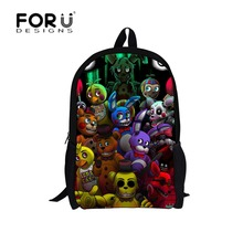 16-inch Cartoon five nights at freddys School Bags Backpack Children Schoolbags For Teenagers Boys&Girls School Book Bag Kids