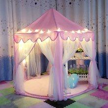 Lovely Girls Pink Portátil Castillo Princesa Linda Niños Kids Play Tent Playhouse Juguetes Al Aire Libre Playa Tienda de Campaña Para Los Niños Embroma