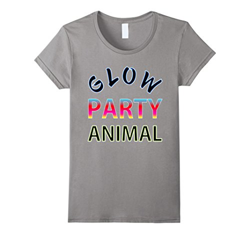 Glow Party Animal Neon Rave Birthday T Shirt Cotton Short Sleeve Hip Hop Tops Print Female Fashion Women Hipster In Shirts From Womens Clothing