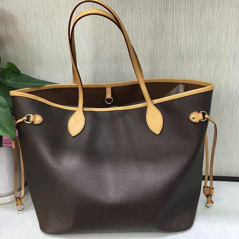 New Genuine Leather fashion High Quality Neo Bucket Bag Monogram Luxury Handbags Women Bag Brand Designer Classic Lady Shoulder 2018 new fashion women s genuine leather bag handbags classic brand design 100