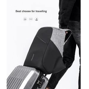 Image 5 - Рюкзак KAKA с защитой от кражи и USB портом для мужчин и женщин, водонепроницаемый деловой модный ранец для ноутбука 15,6 дюйма, школьный портфель