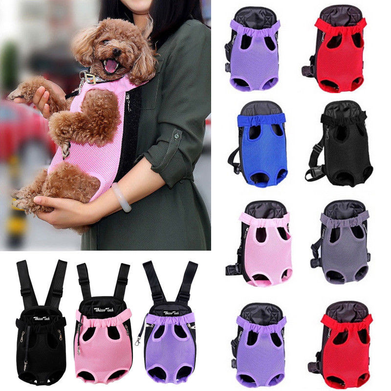 New Fashion Breathable Mesh Dog Chest Pack 3Size 6colors Pet Dog Carriers Backpacks Cat Puppy Pet Front Shoulder Carry Sling Bag