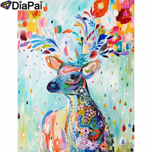 DIAPAI Diamond Painting 5D DIY 100% Full Square/Round Drill Color animal deer Embroidery Cross Stitch 3D Decor A24798