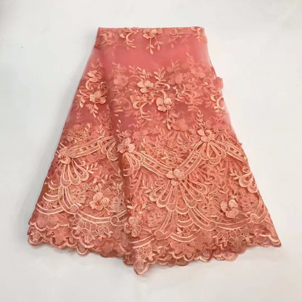 2018 High End Luxury Pink Handmade 3D Printed French Lace
