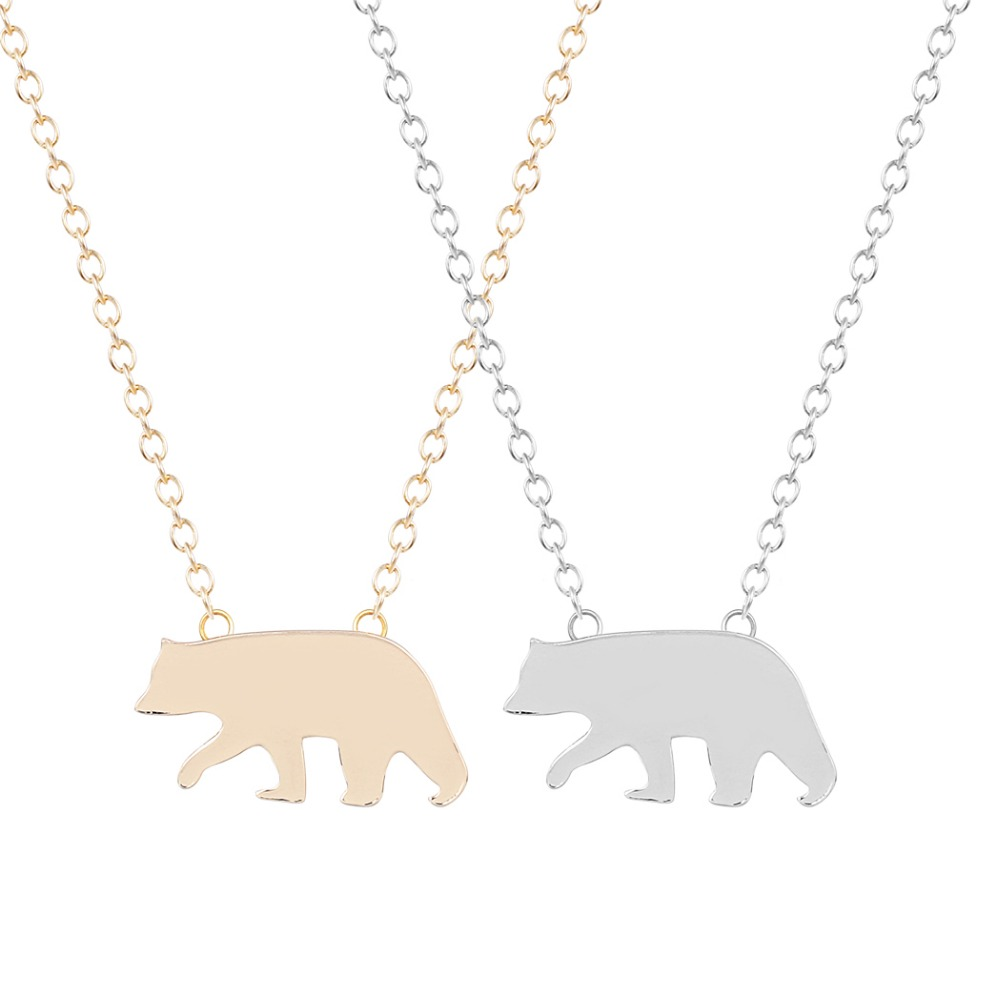 QIAMNI Nice Cute Polar Bear Necklace Pendant Lovely Animal Fashion Jewelry for Women and Girls Gift Anti Pendant Teens Jewelry image