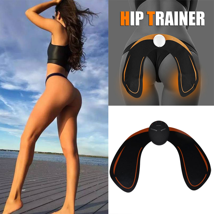 AMKEE 6 Modes EMS Hip Trainer Intelligent Buttocks Lifting ABS Stimulator Body Shaping Muscle Stimulator Body Slim Shaper Relax ems hips trainer